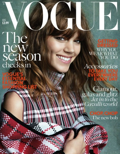 Freja Beha Erichsen by Patrick Demarchelier (UK Vogue August 2013)