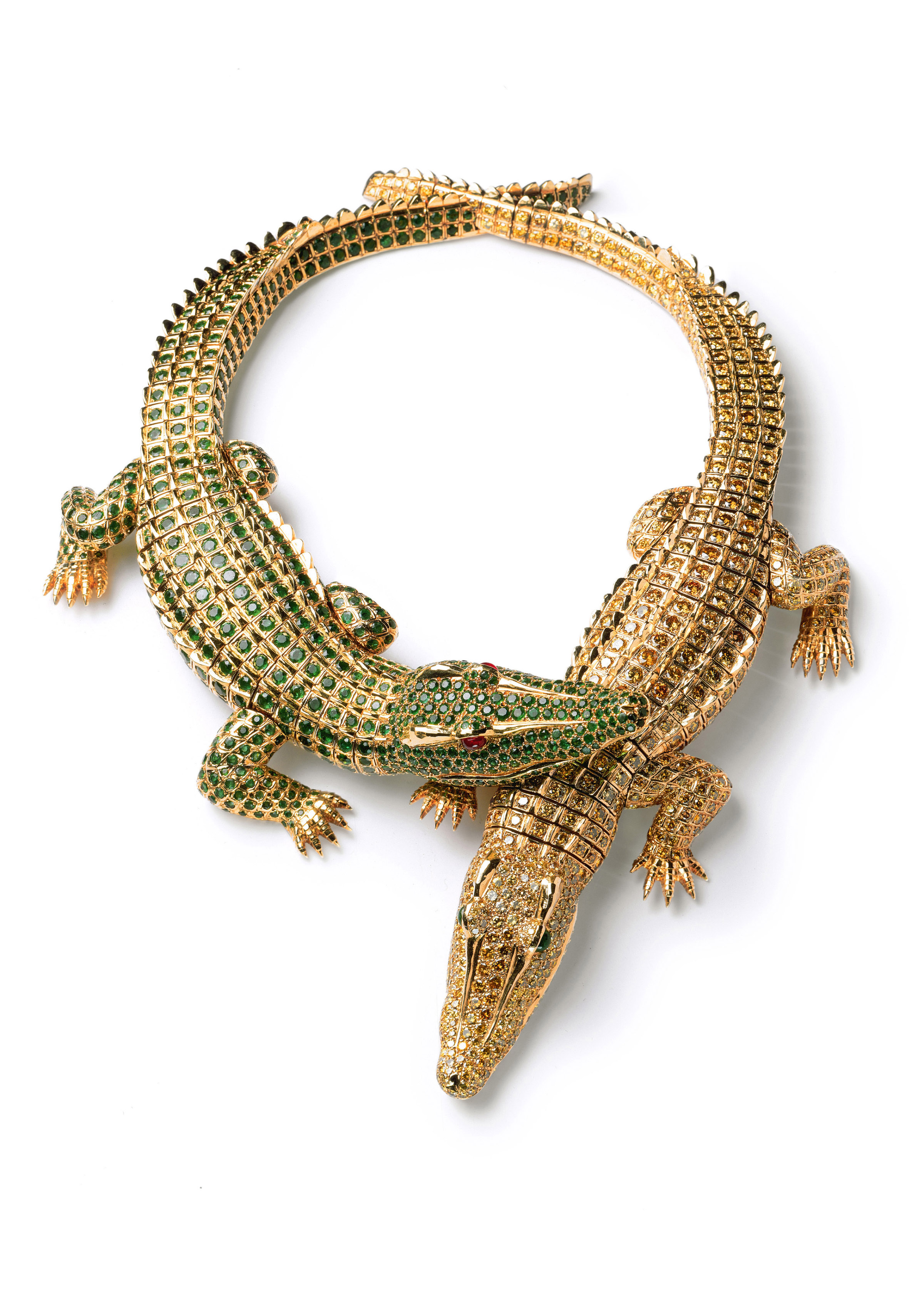 Crocodile necklace made for Maria Felix _c_ Cartier