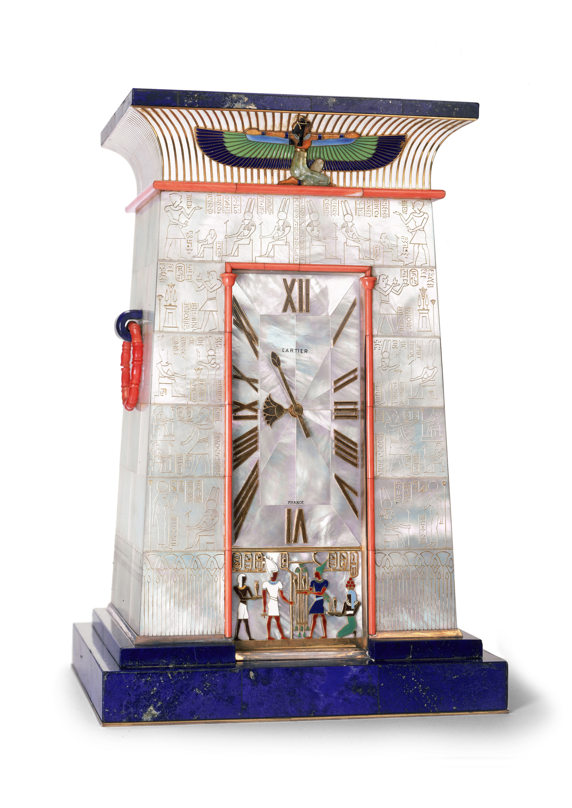 Egyptian striking clock owned by Mrs_ George Blumenthal _c_ Cartier